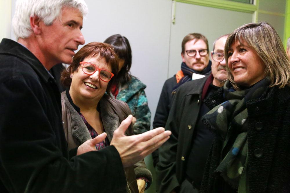 Núria Marín, i Dolors Bassa visiten Asproseat