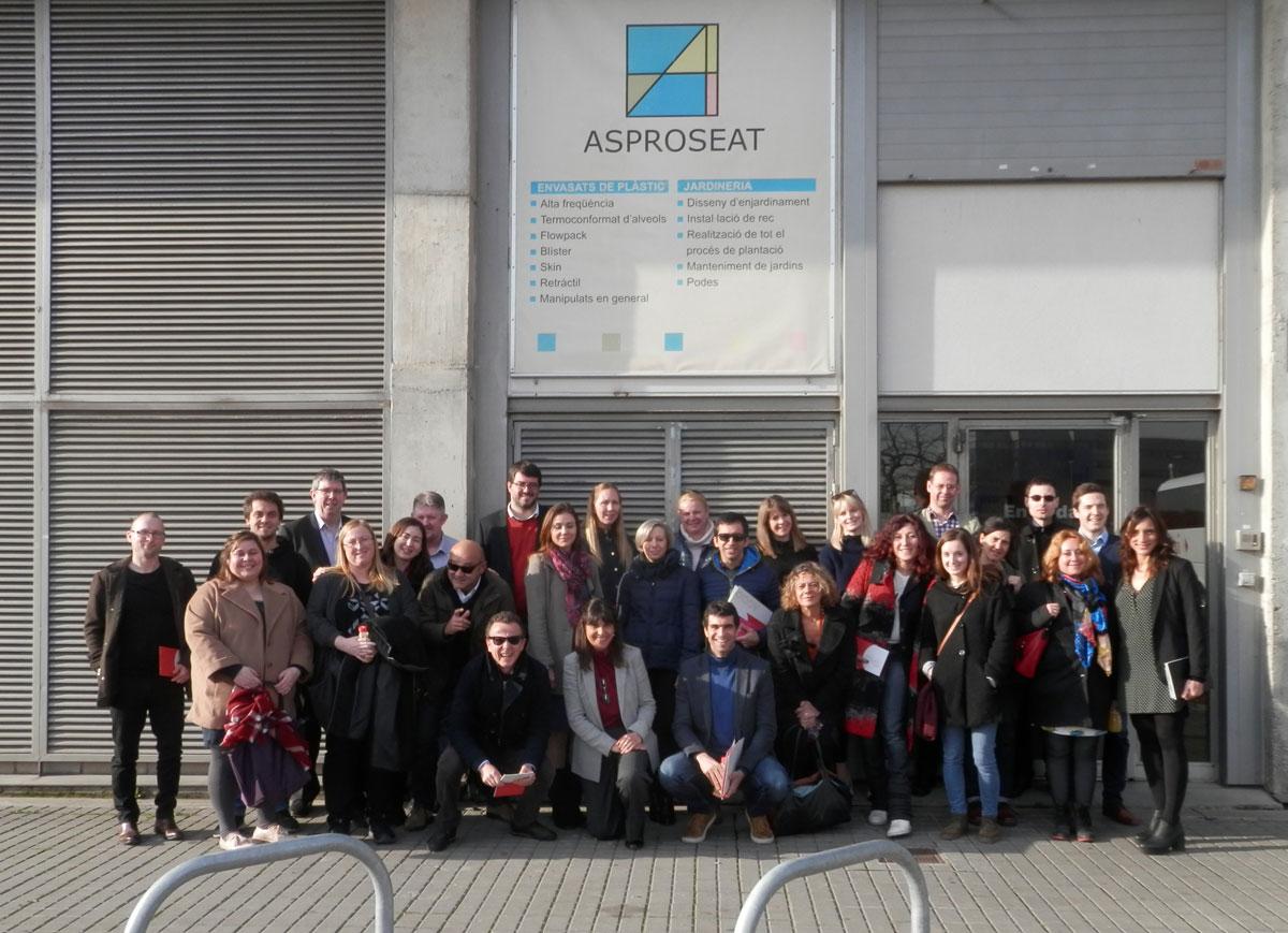 Asproseat rep la visita d'entitats europees participants del projecte RaiSE
